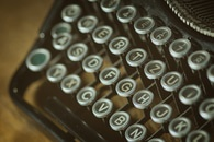 vintage, old, typewriter