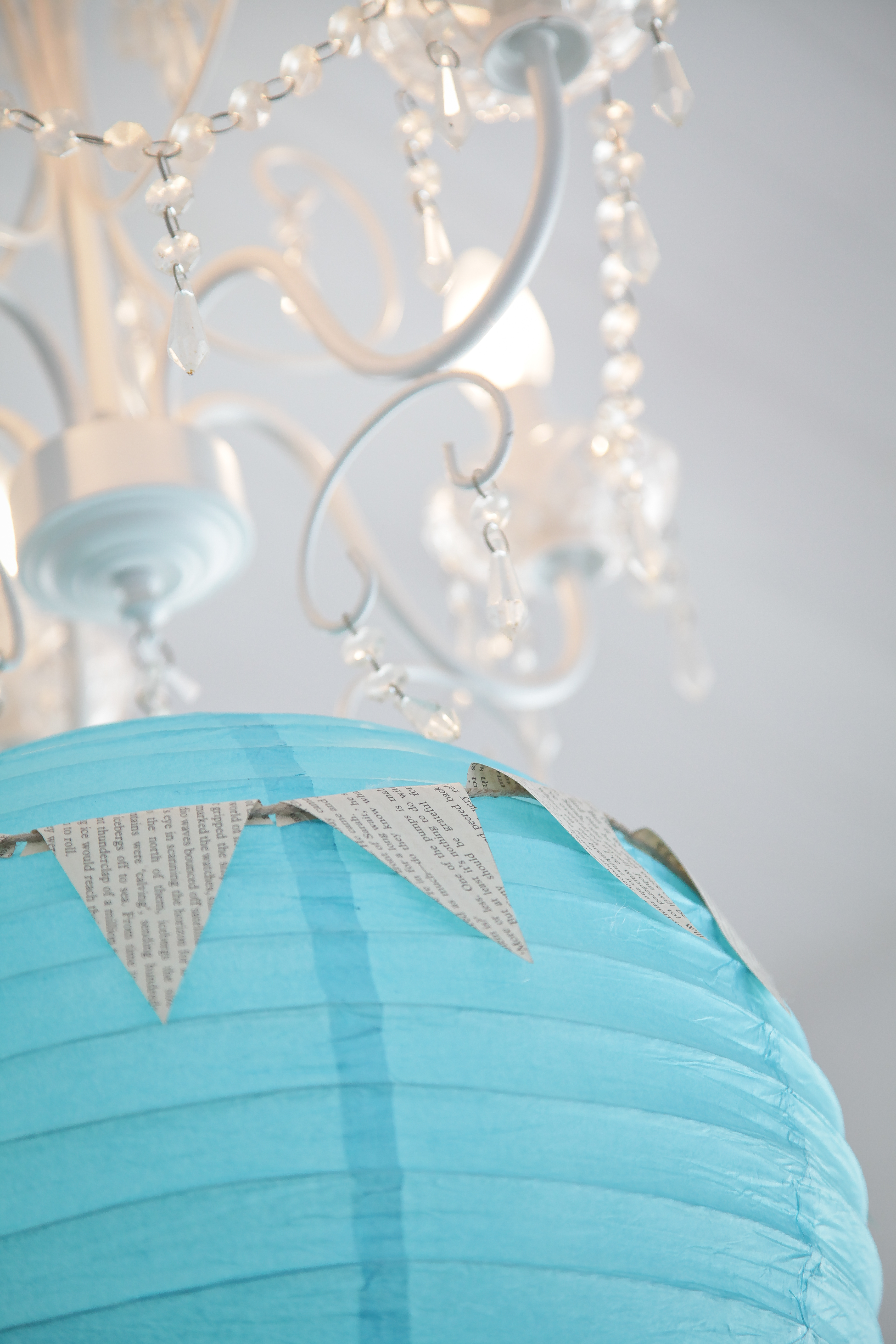 Teal and White Metal Frame Chandelier · Free Stock