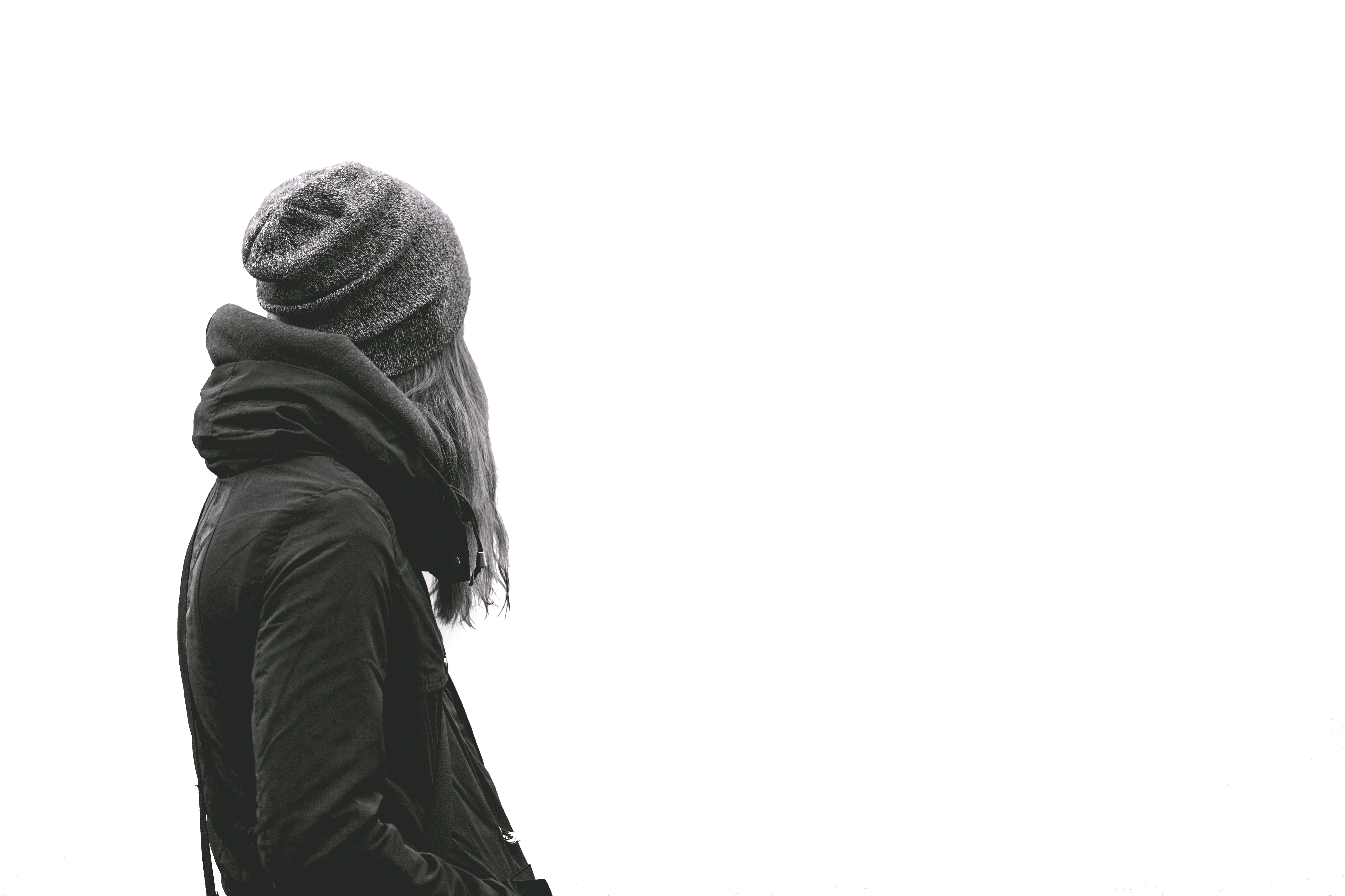 Free stock photo of black-and-white, facing away, female  Free stock phot...