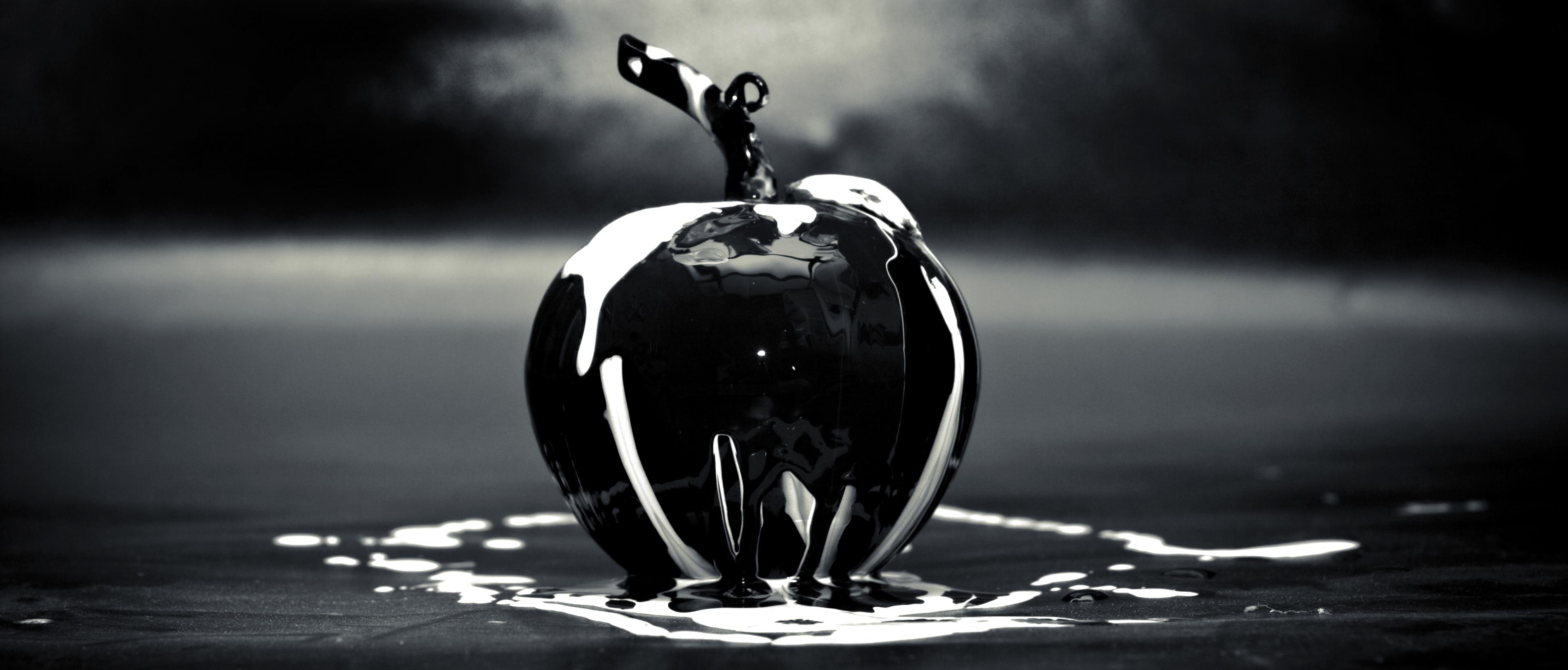 free stock photo of apple art black. Black Bedroom Furniture Sets. Home Design Ideas