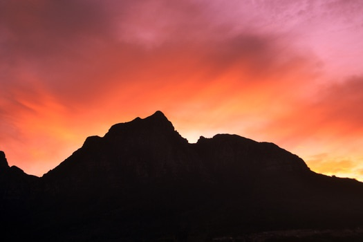 Mountain With Sunrise Background