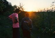sunset, people, men