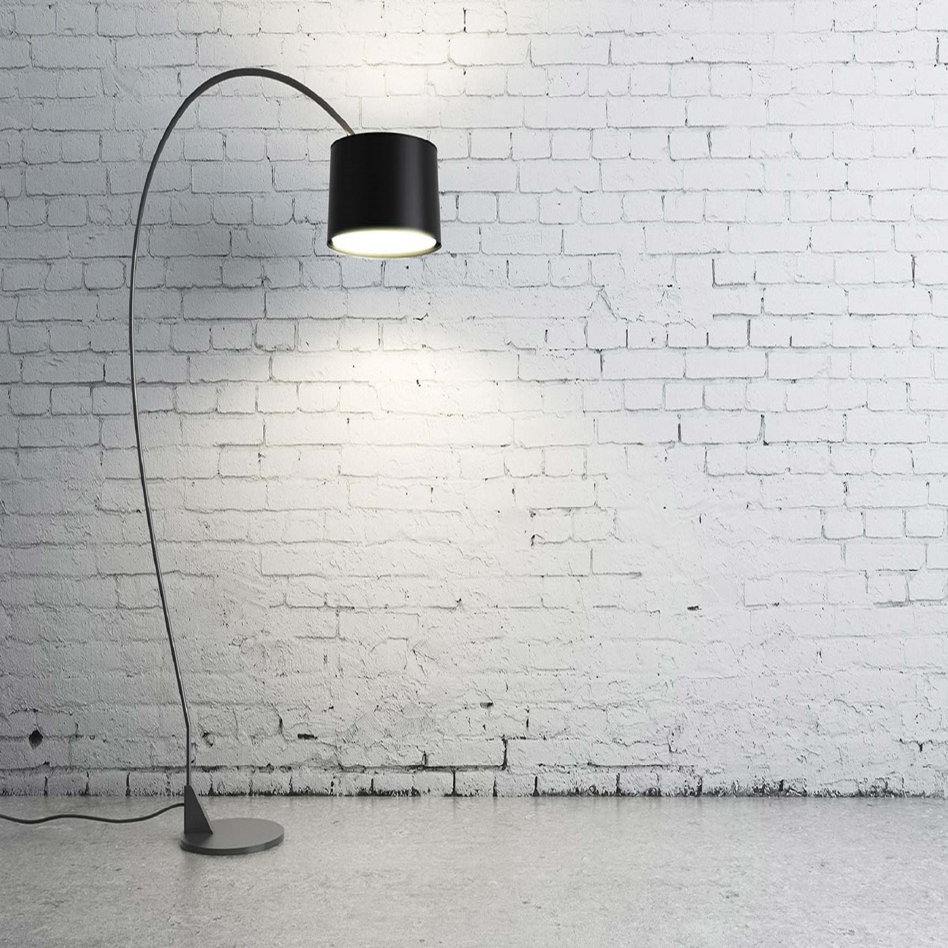 Turned on black torchiere lamp free stock photo for Wallpapering a wall