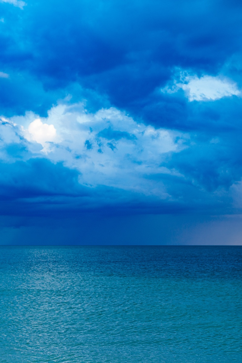 Blue Ocean With Cloudy Sky 183 Free Stock Photo