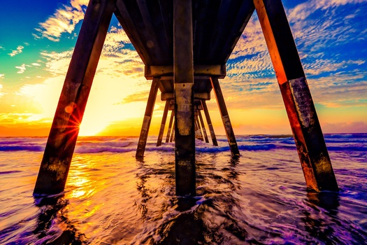 Free stock photo of jetty, landing stage, sea, sunset