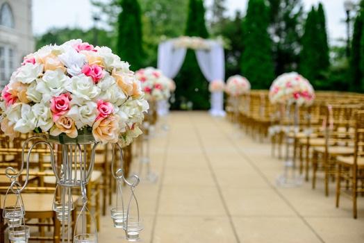 Macro Photo of Flowers in Wedding Venue