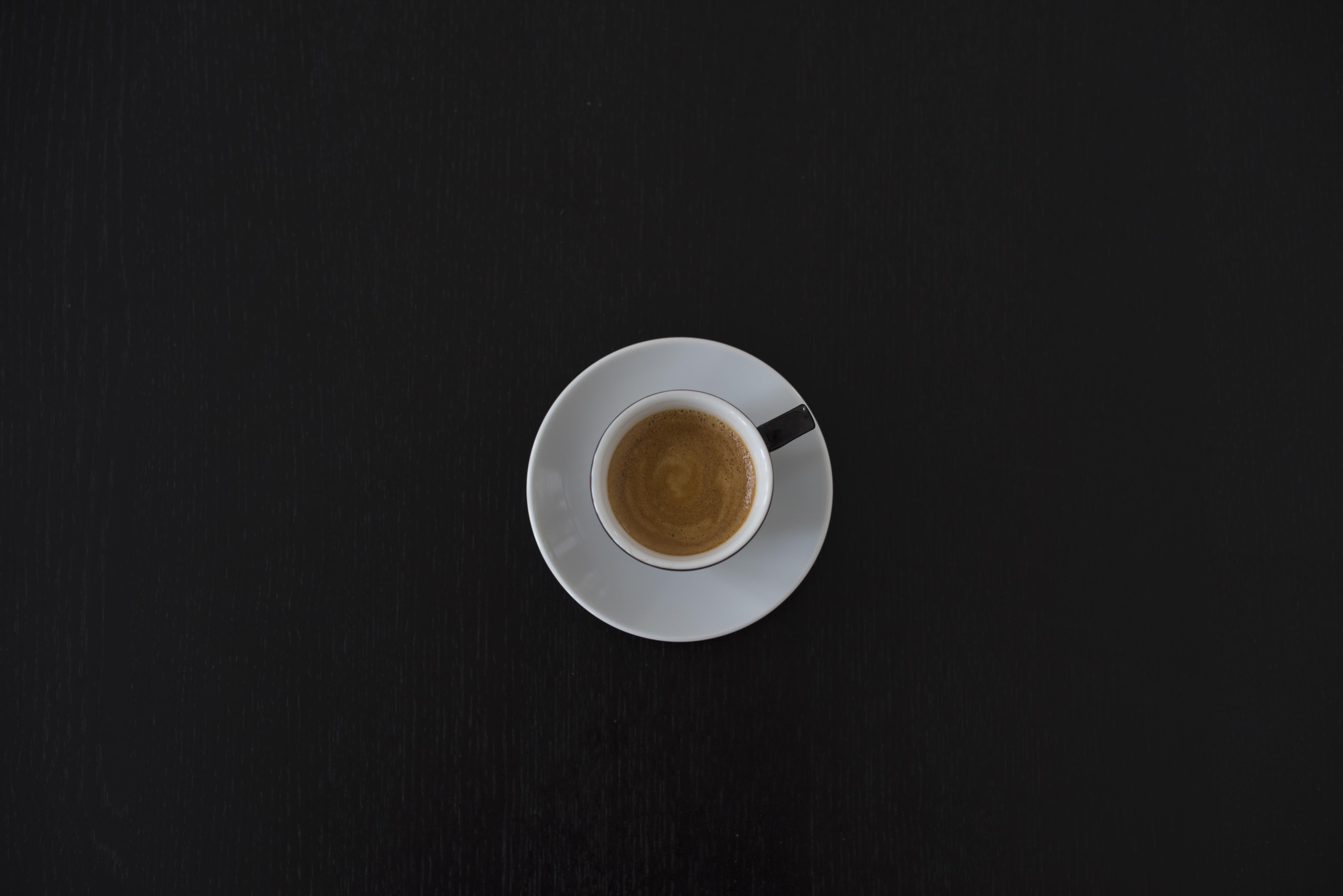 White Ceramic Coffee Cup On White Saucer 183 Free Stock Photo
