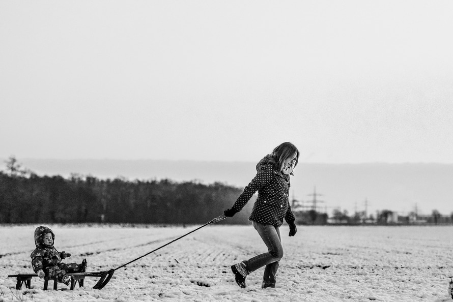 cold, snow, black-and-white