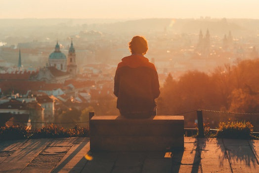 Free stock photo of city, dawn, sunset, person