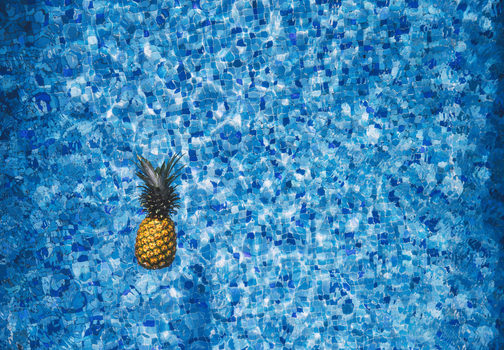 Free stock photo of water, blue, pattern, pineapple