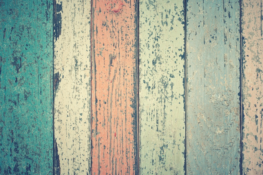 White Green and Orange Wooden Plank