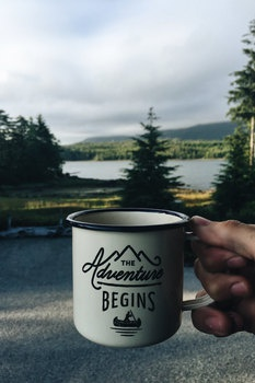 The Adventure Begins White Ceramic Mug