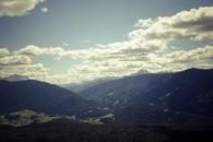 landscape, mountains, cloudy