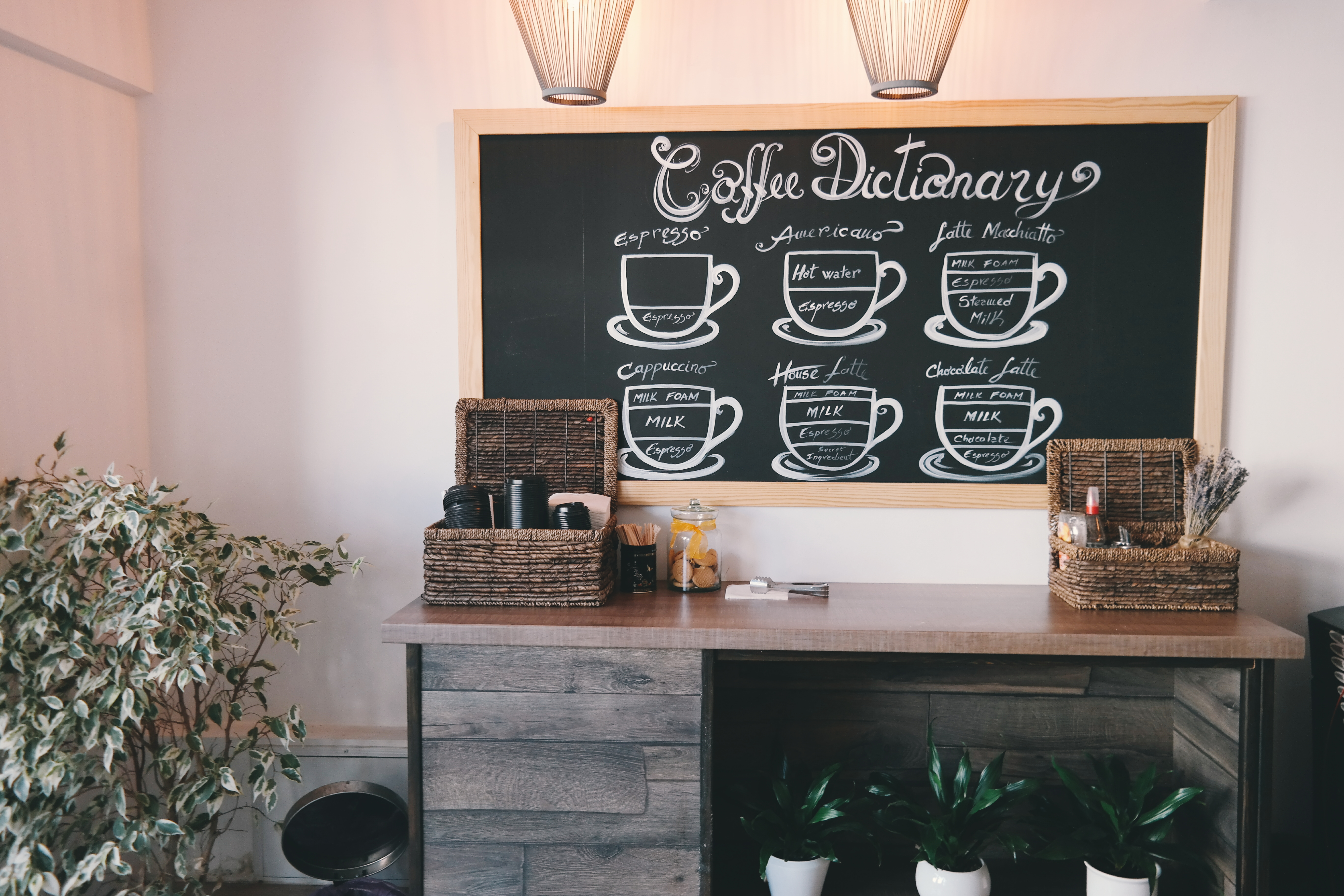 Free stock photo of basket chalkboard coffee shop - Home decorating online stores decor ...