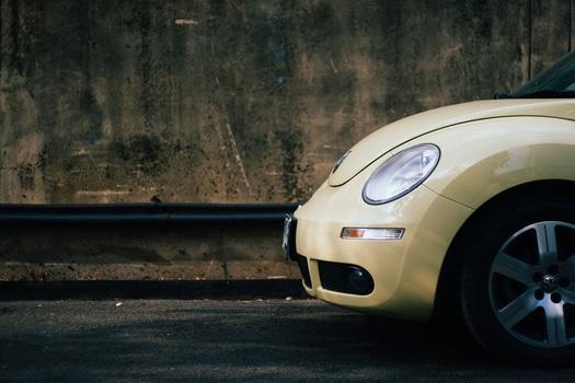 Beige Volkswagen Beetle