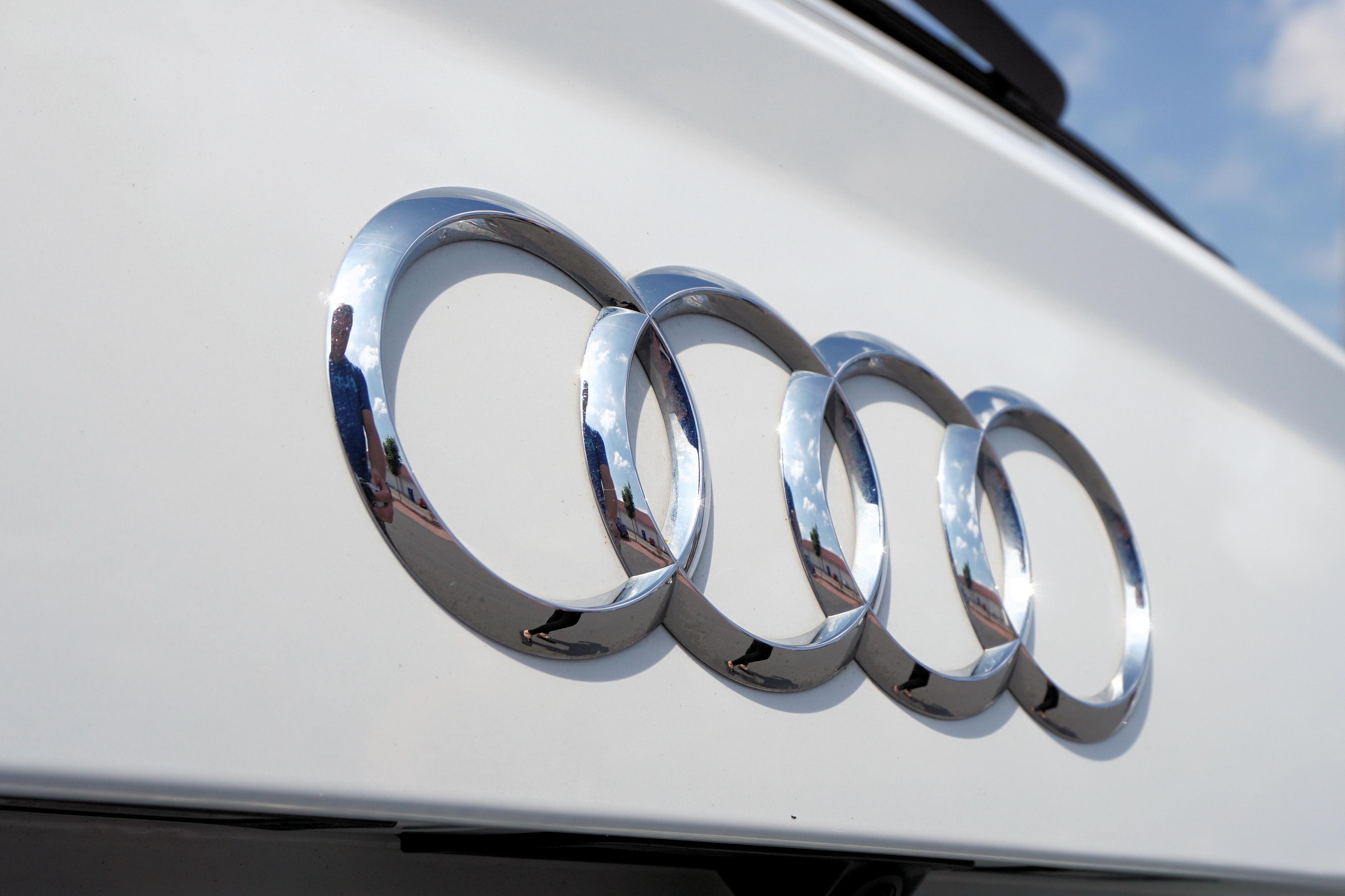 Silver Audi Car Emblem Free Stock Photo - Audi car symbol