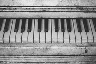 black-and-white, vintage, piano