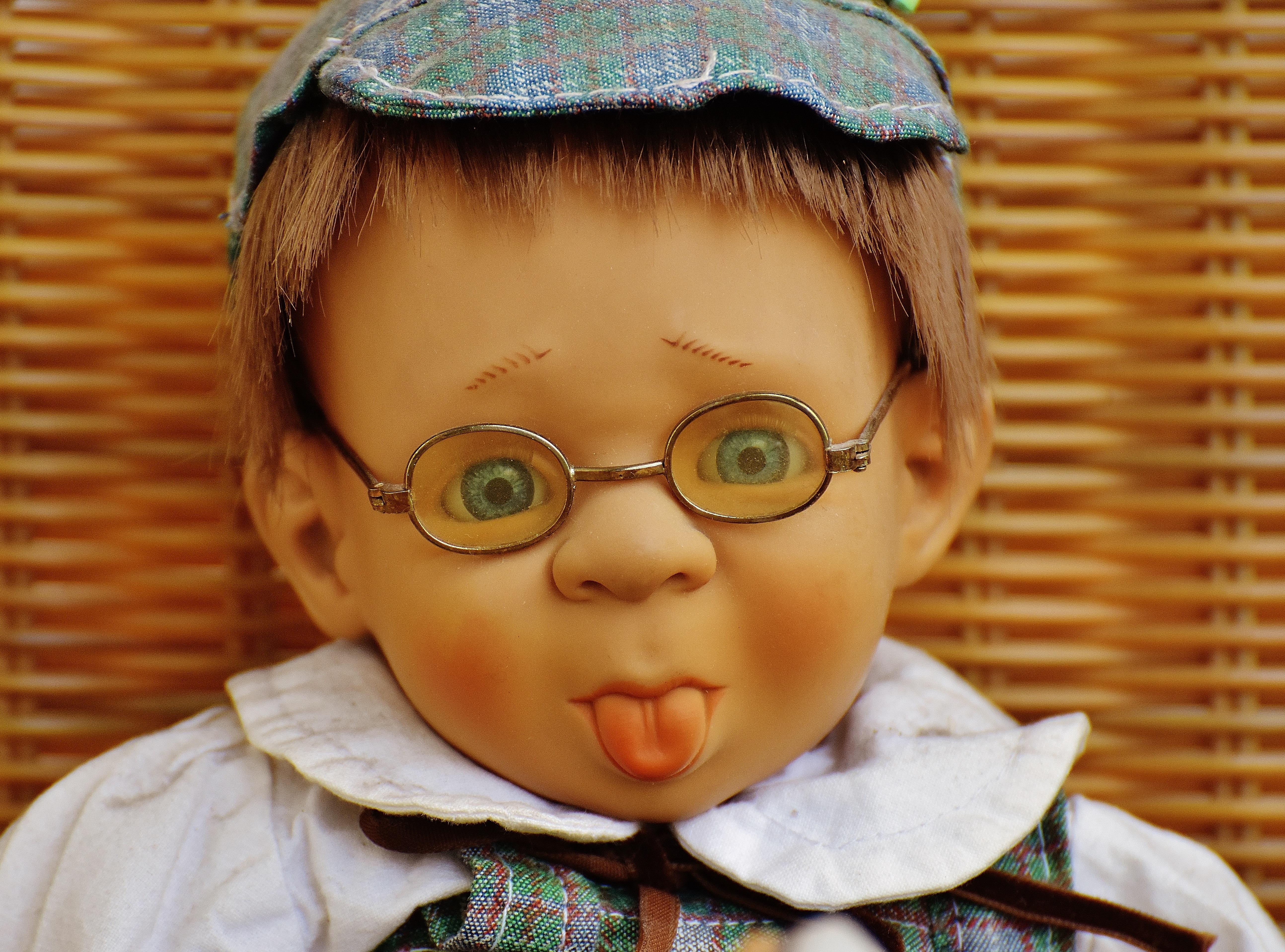 Doll Wearing Eyeglasses 183 Free Stock Photo