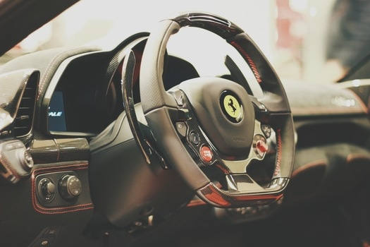Free stock photo of car, sports car, steering wheel, Ferrari