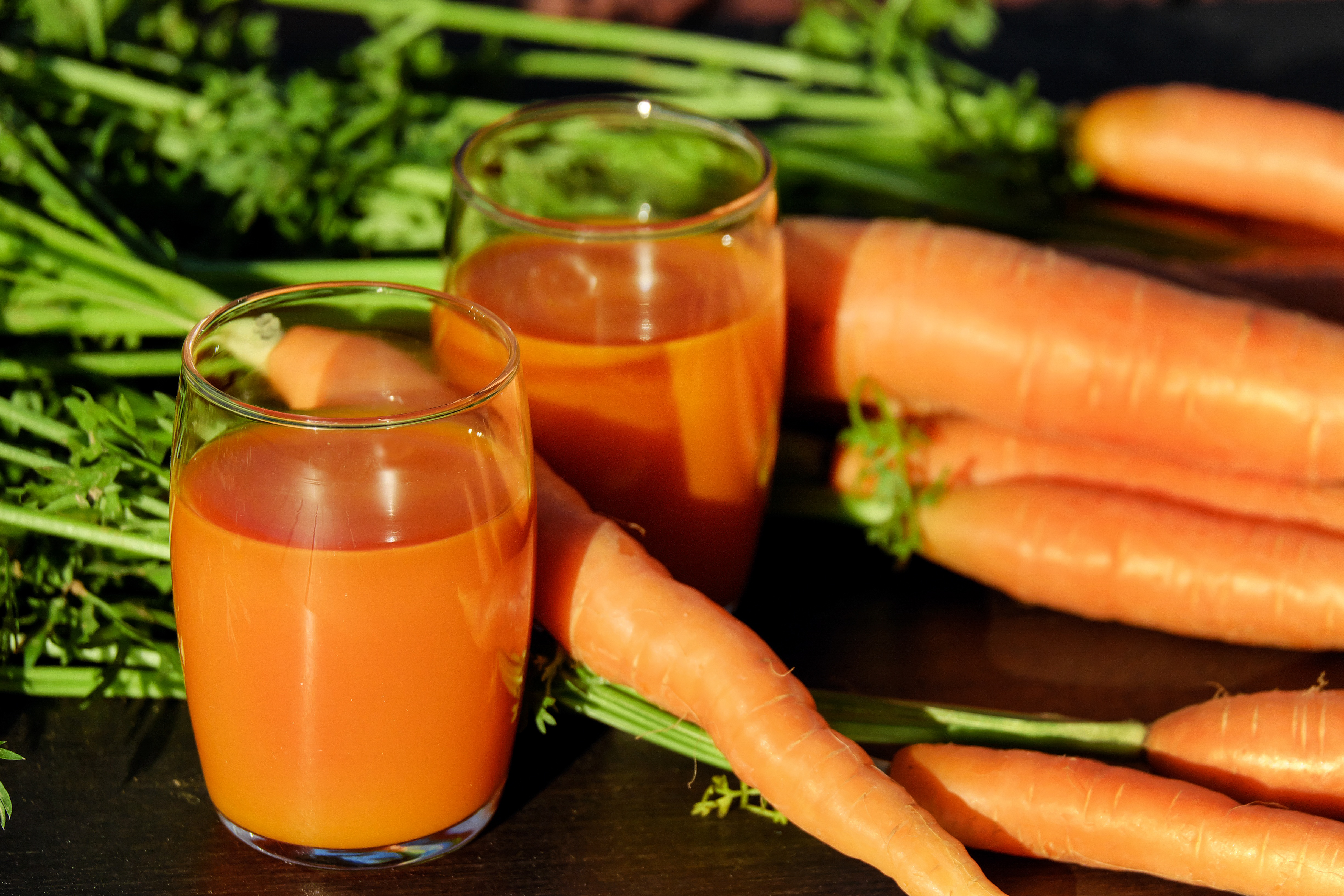 picture of carrots and carrot juice found at https://static.pexels.com/photos/162670/carrot-juice-juice-carrots-vegetable-juice-162670.jpeg