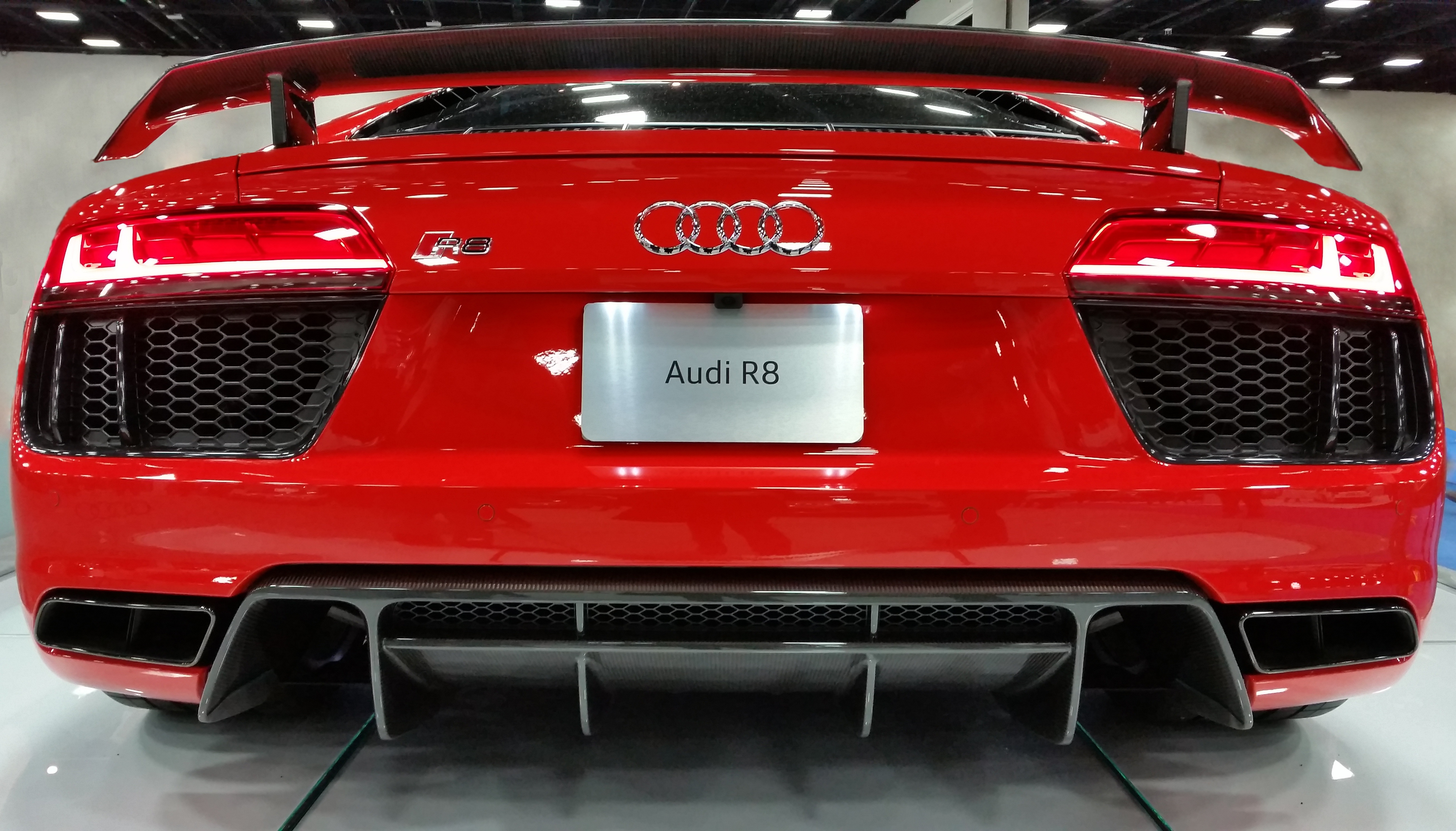 Audi Red R Free Stock Photo - Red sports car