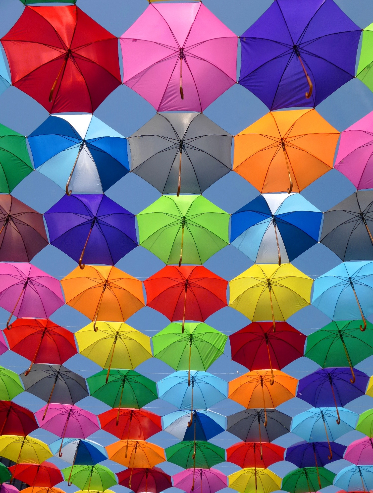 Pink grey and green folding umbrella painting free stock for Wallpaper photo