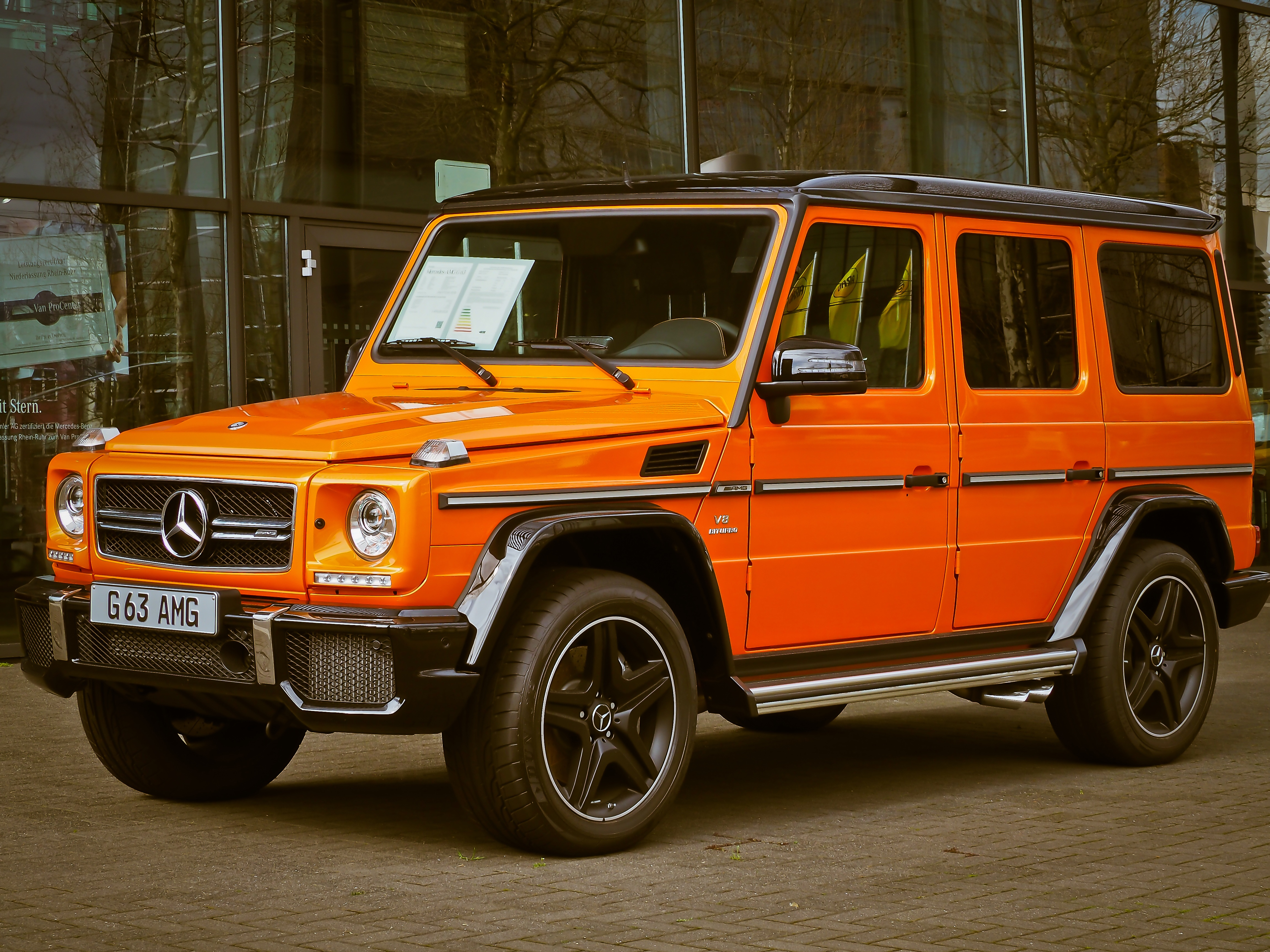 Orange Mercedes Benz G63 · Free Stock Photo