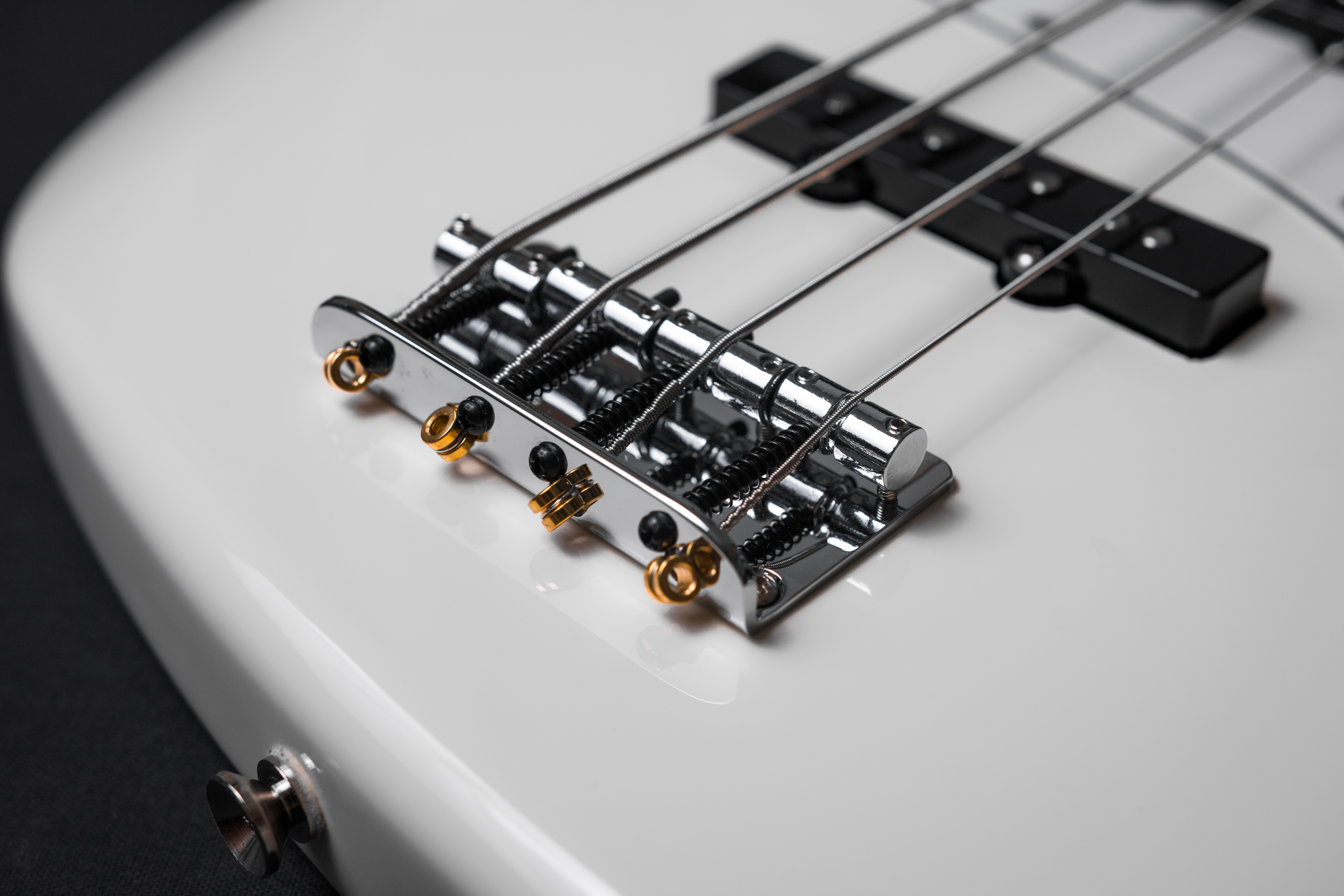 White Electric Bass Guitar Free Stock Photo