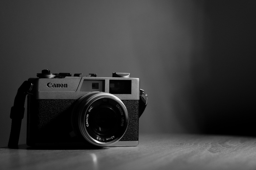 free stock photo of blackandwhite camera canon