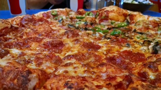 Brown and Red Pepperoni Pizza