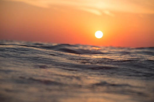 Free stock photo of sunset, water, wave, ocean