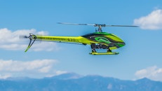 Green Black and Yellow Heli Division 630 Helicopter