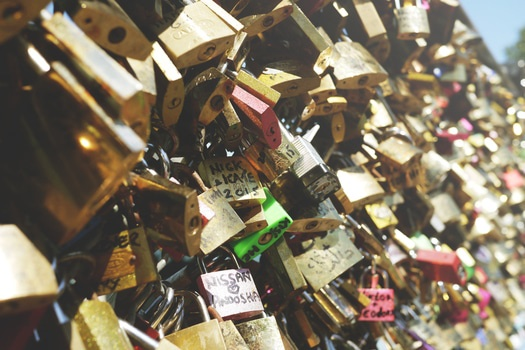 Free stock photo of paris, locks, promise, eternal love