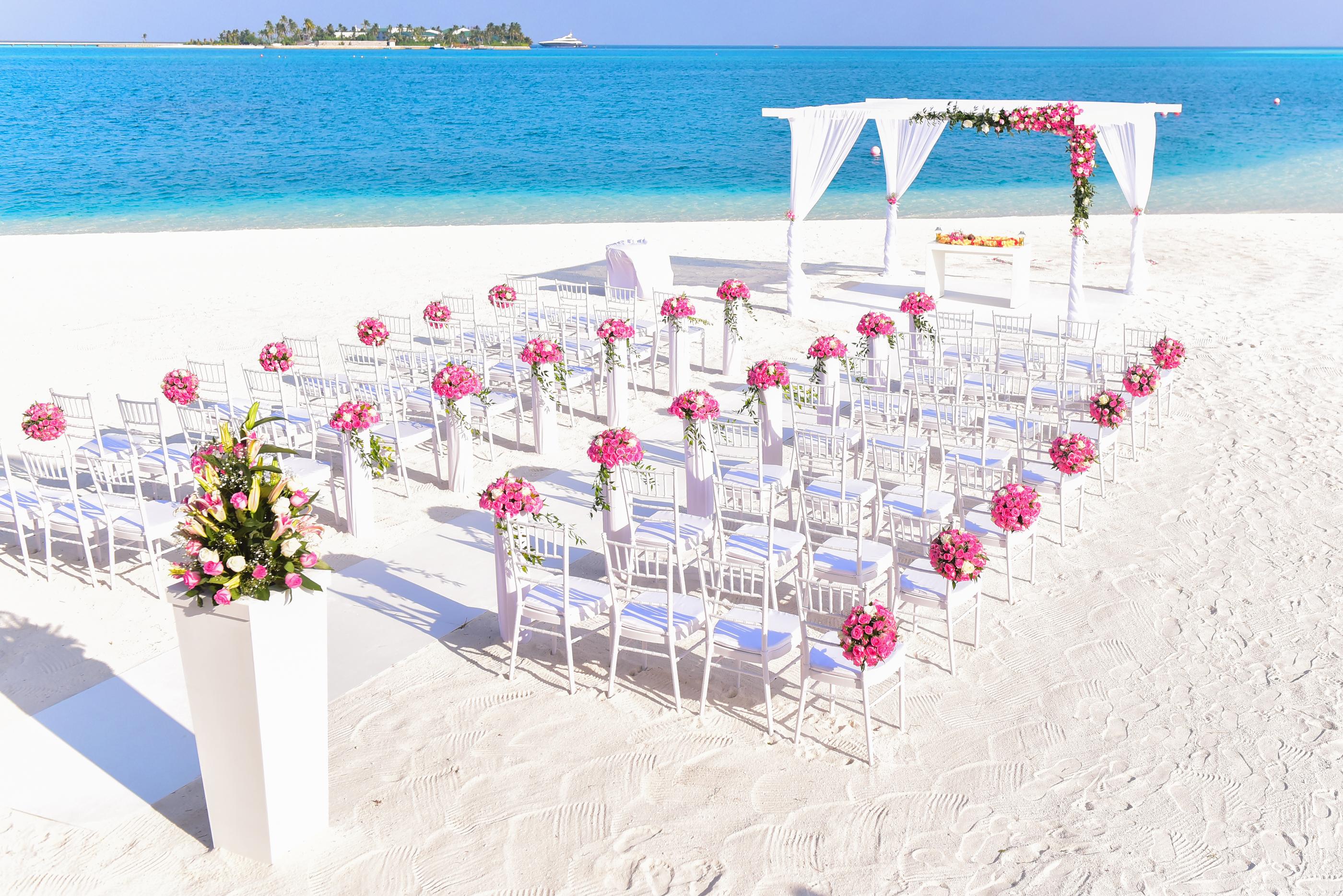 Free stock photos of beach wedding pexels free stock photo of sea sky sunny beach junglespirit Images