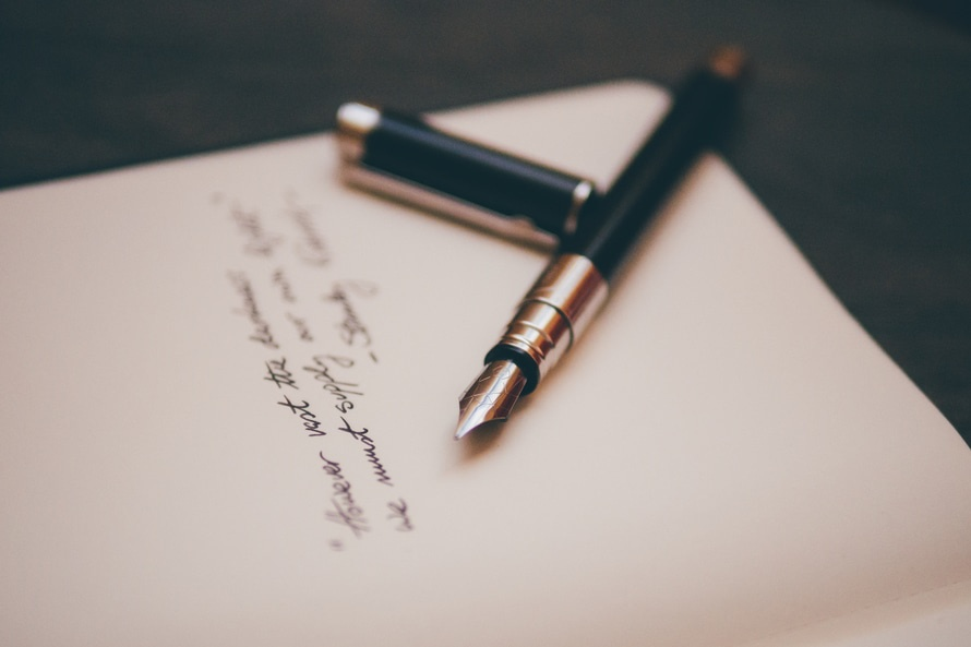 Black and Copper Pen