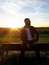 sunset, fashion, man