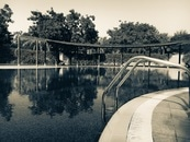 Sepia Photography of Swimming Pool