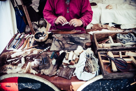 Free stock photo of person, tools, traditional, leather
