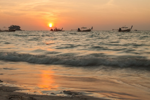 Free stock photo of sunset, beach, sand, waves