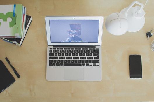 Free stock photo of light, apple, books, desk