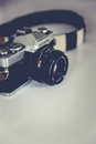 Black and Gray Minolta Dslr Camera