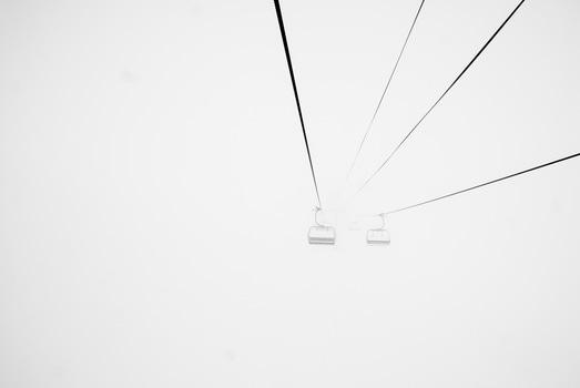 Free stock photo of fog, foggy, ski lift, cable railway