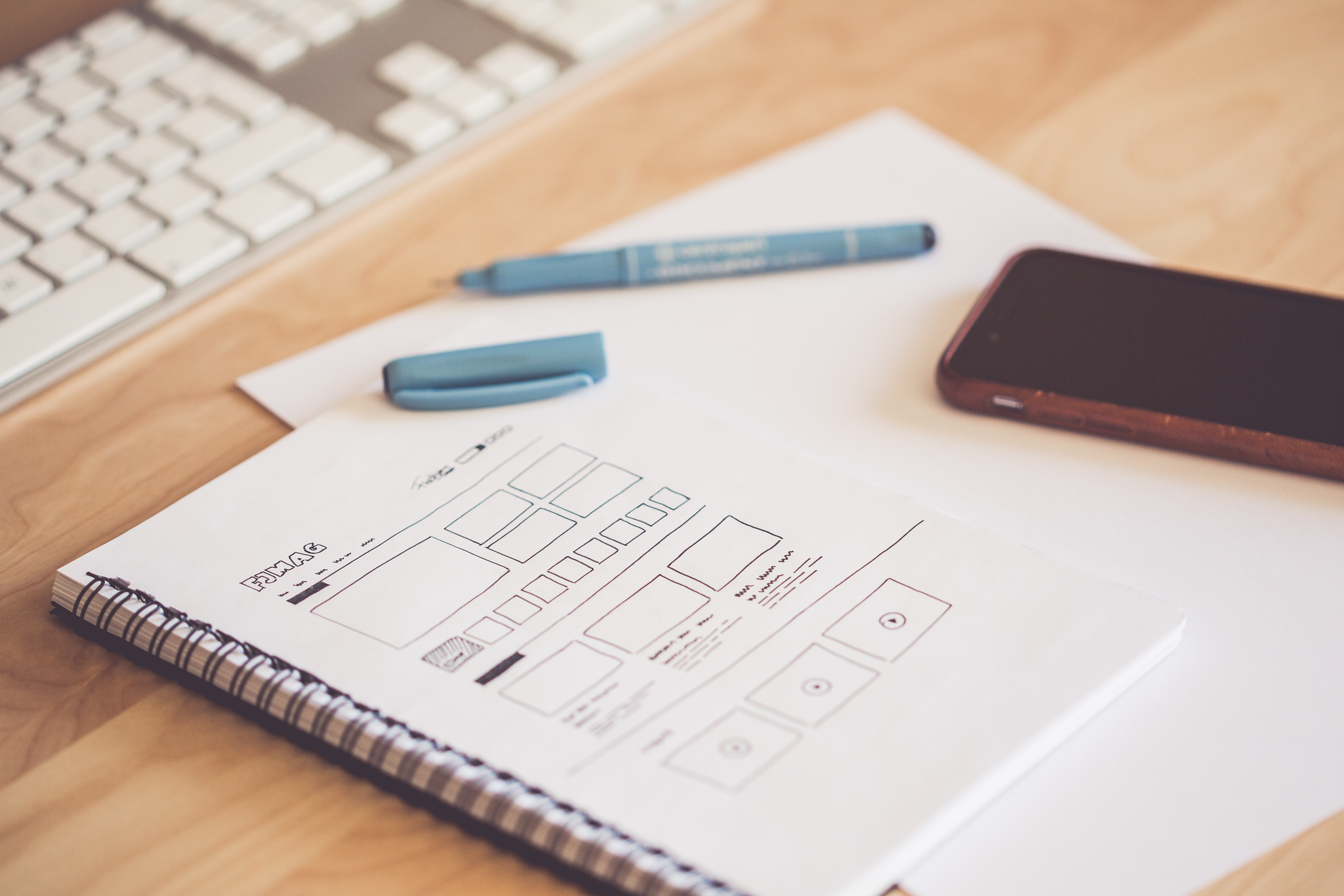 Maquette de site web prenant en compte le UX design