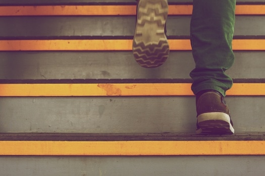 Free stock photo of stairs, man, person, walking