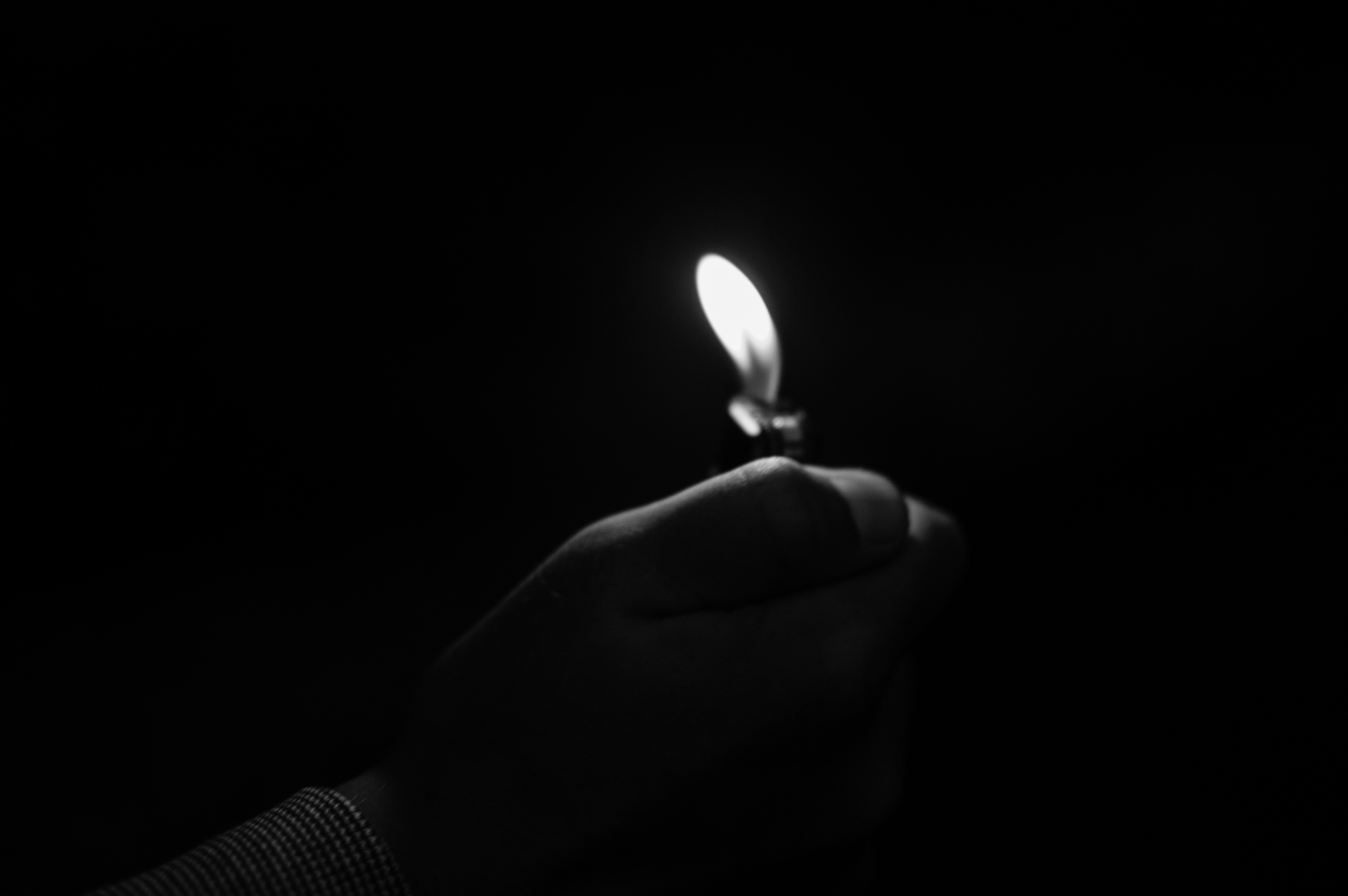 Dark room with candle light - Free Download
