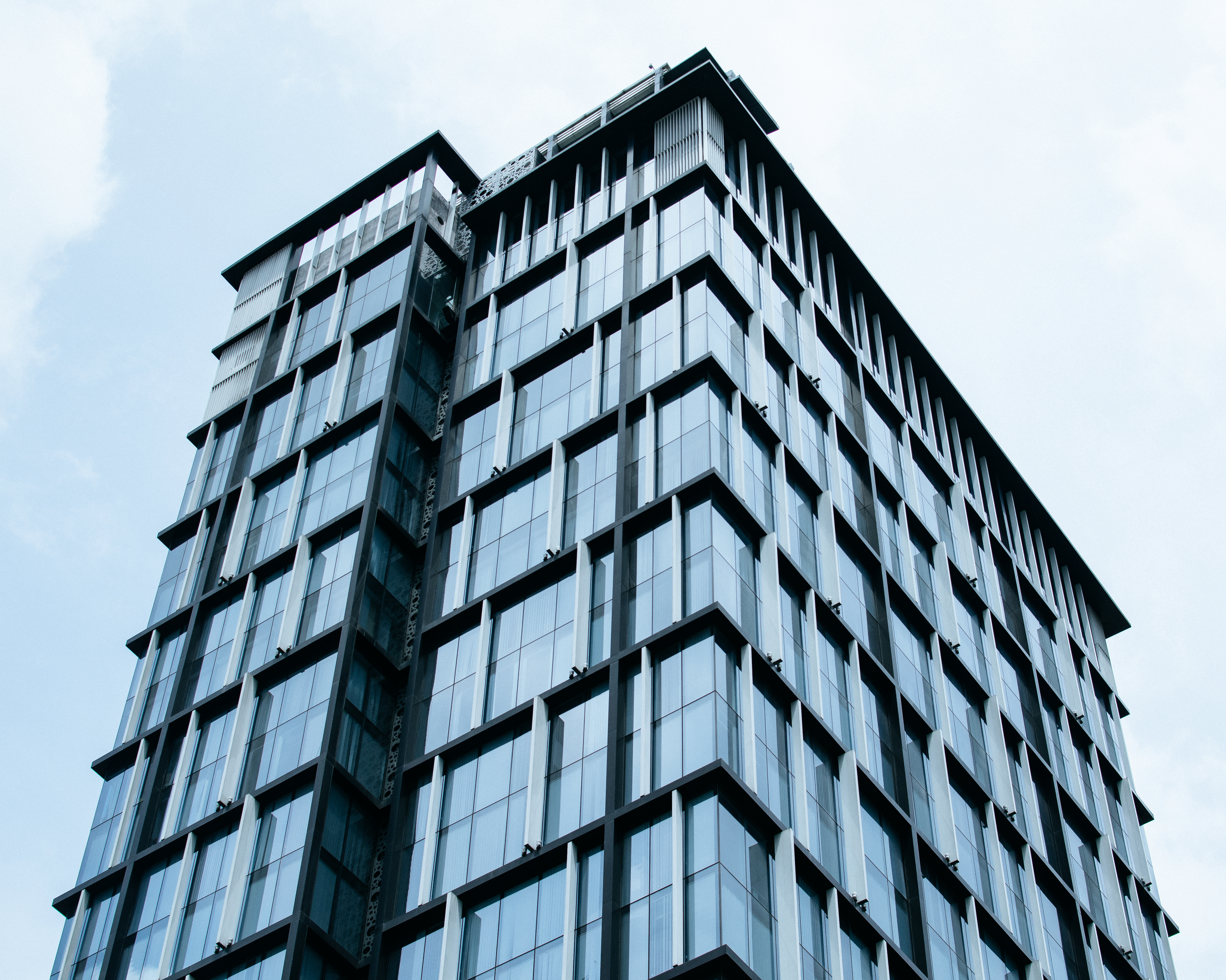 Curtain Glass Building Under Blue Sky Free Stock Photo