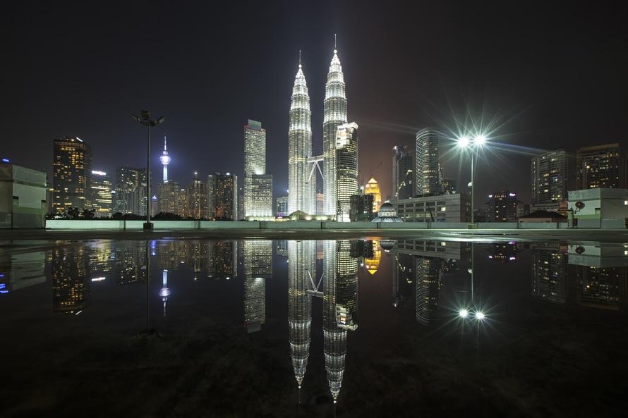 city, landscape, lights