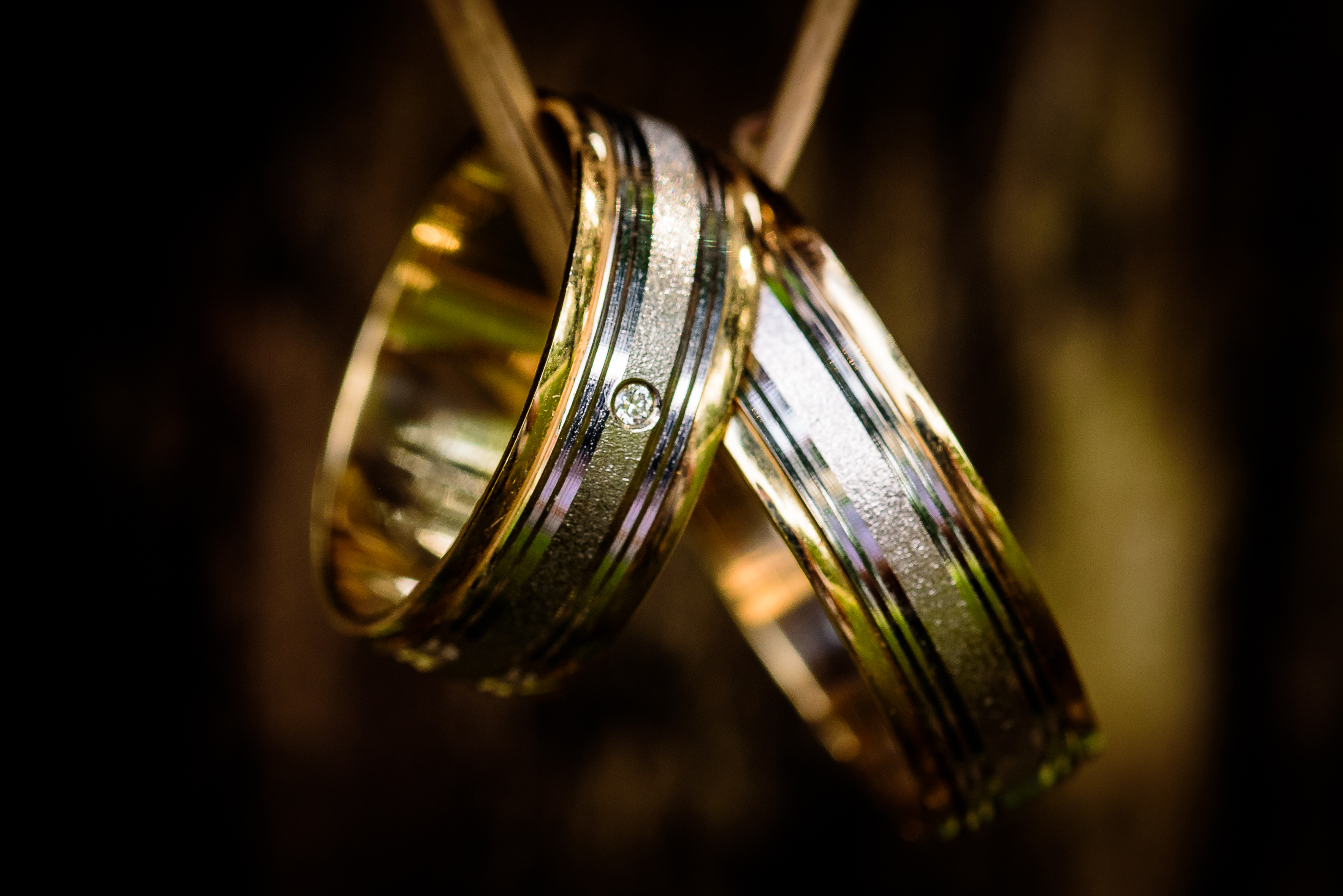 Silver and Gold Couple Ring · Free Stock Photo