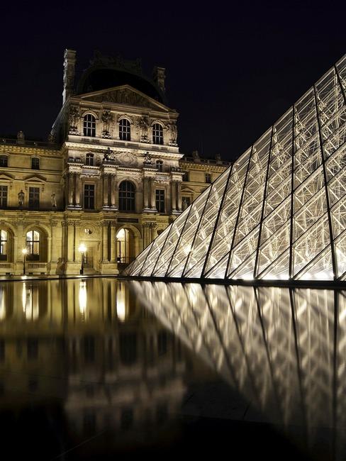 france, landmark, night