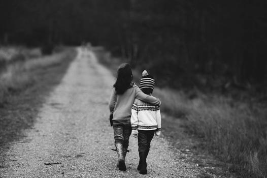 Photo of 2 Children Walking